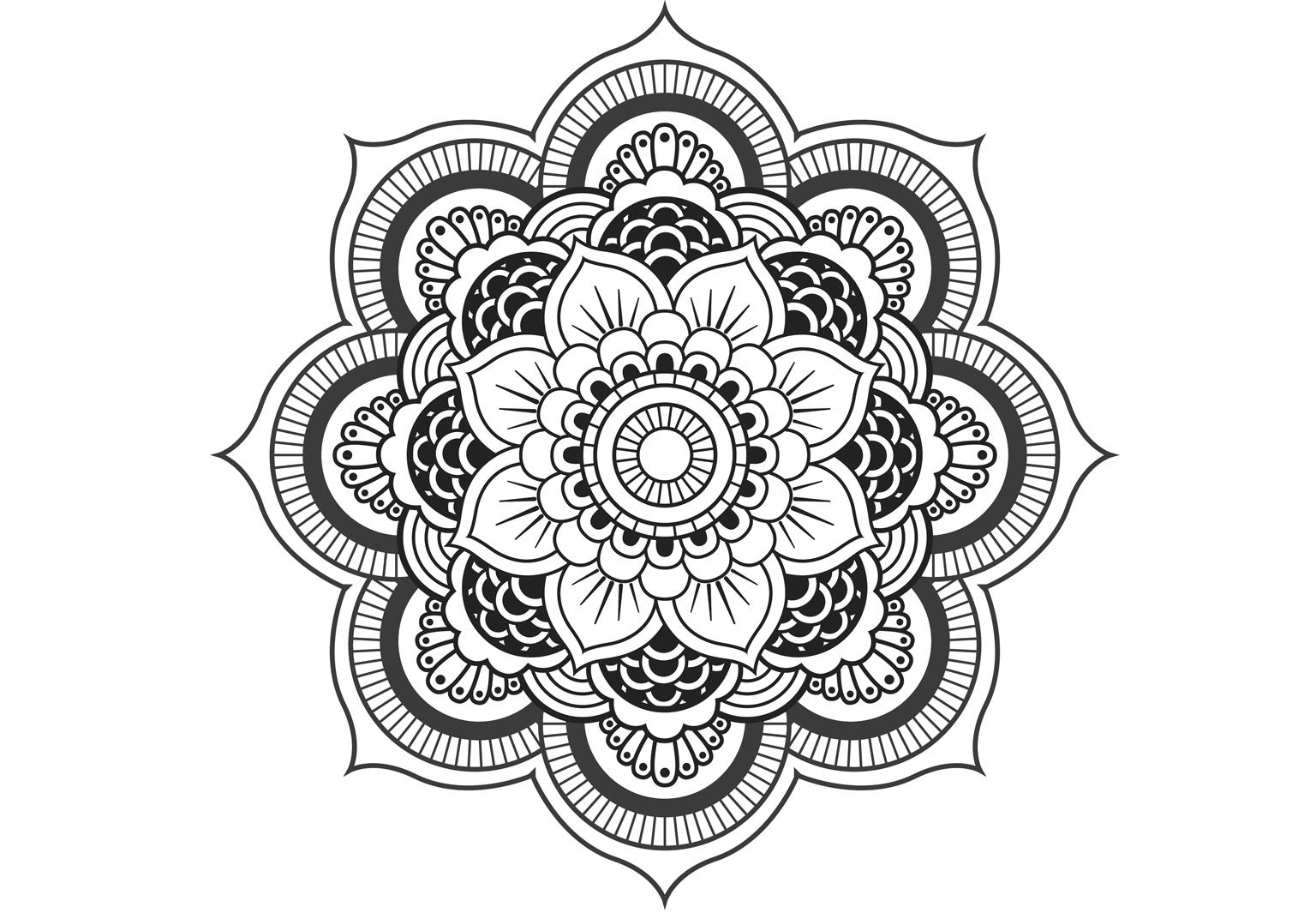 Coloriage Anti Stress Et Mandala Gratuits Pour Adulte Femme Actuelle