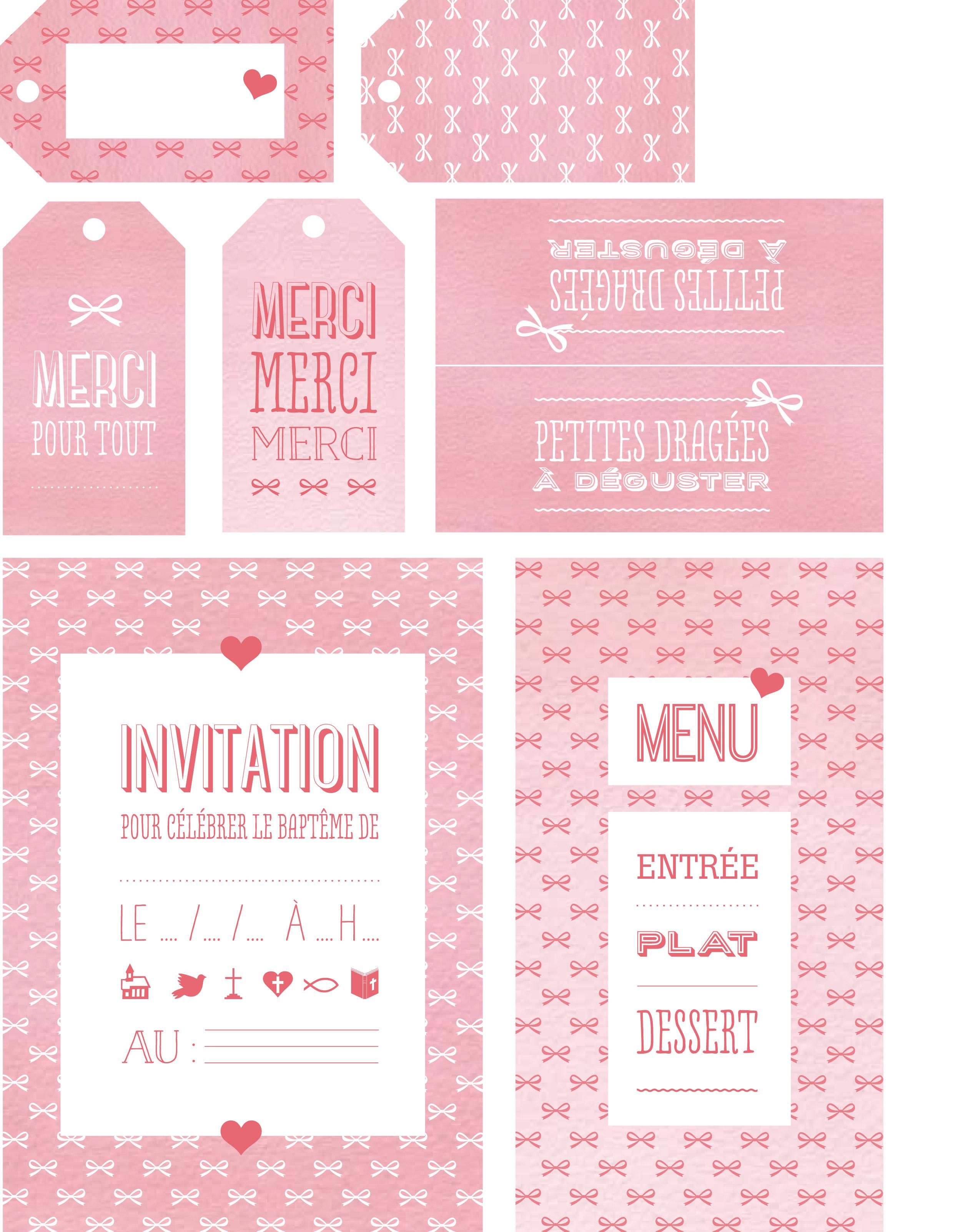 Bapteme Nos Cartes D Invitation Femme Actuelle Le Mag