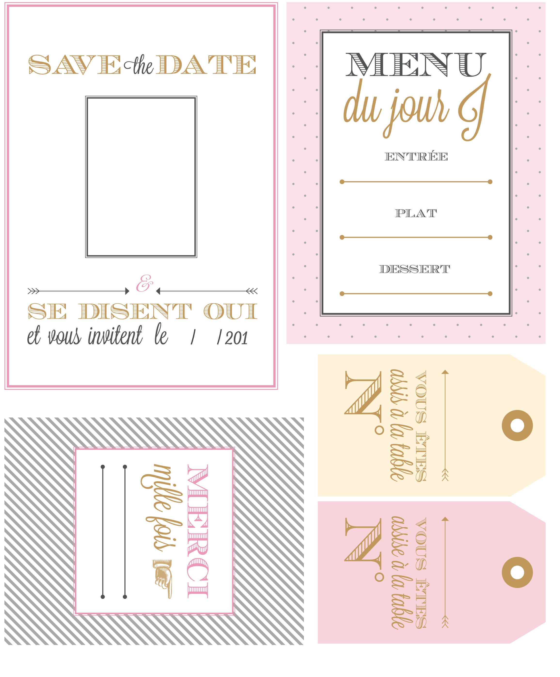 Etiquette Menu De Noel A Imprimer.Mariage Invitations Menus Et Marque Places Gratuits