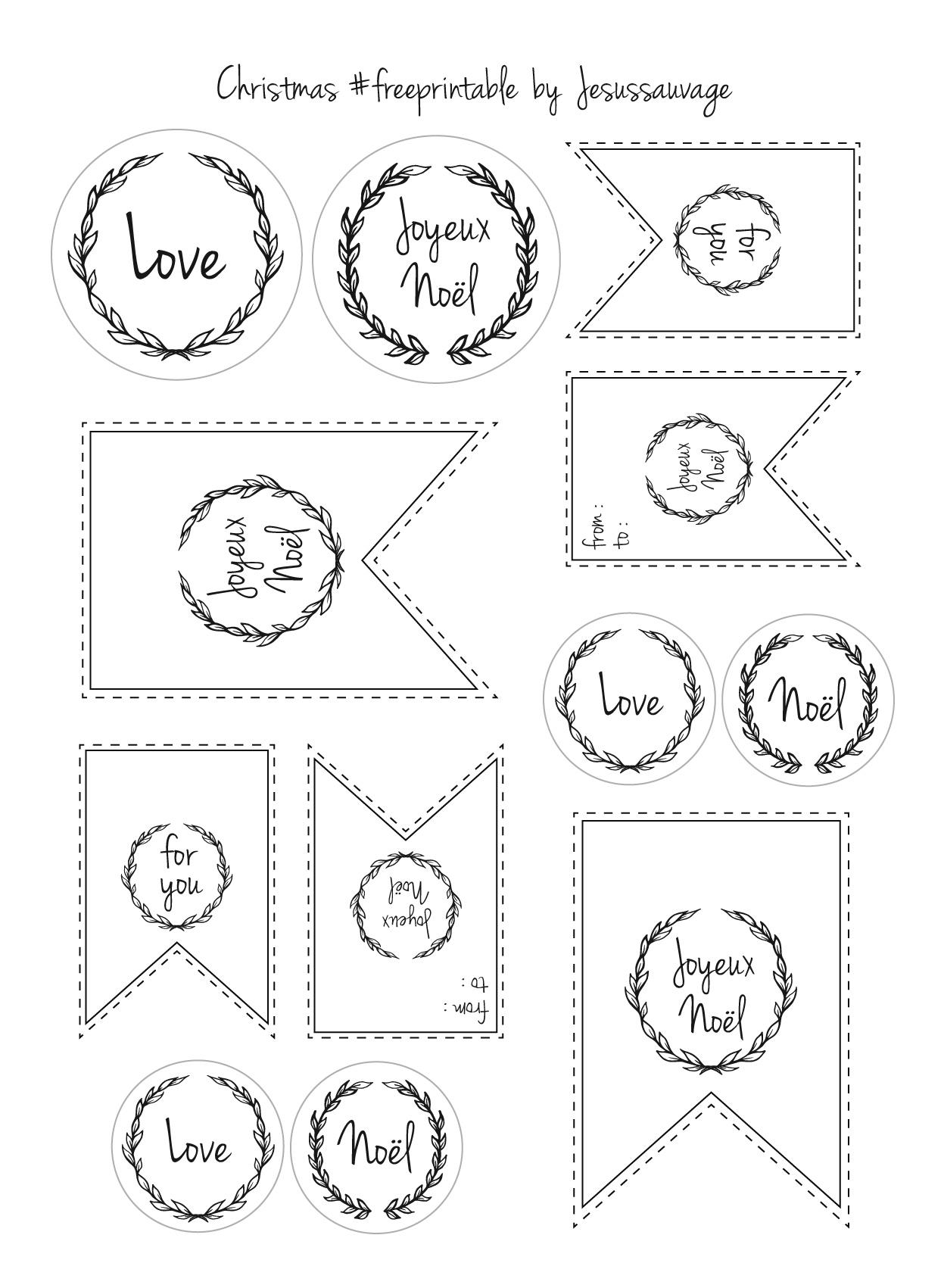 Etiquette Menu De Noel A Imprimer.Les Etiquettes Gratuites De Noel A Imprimer Femme Actuelle