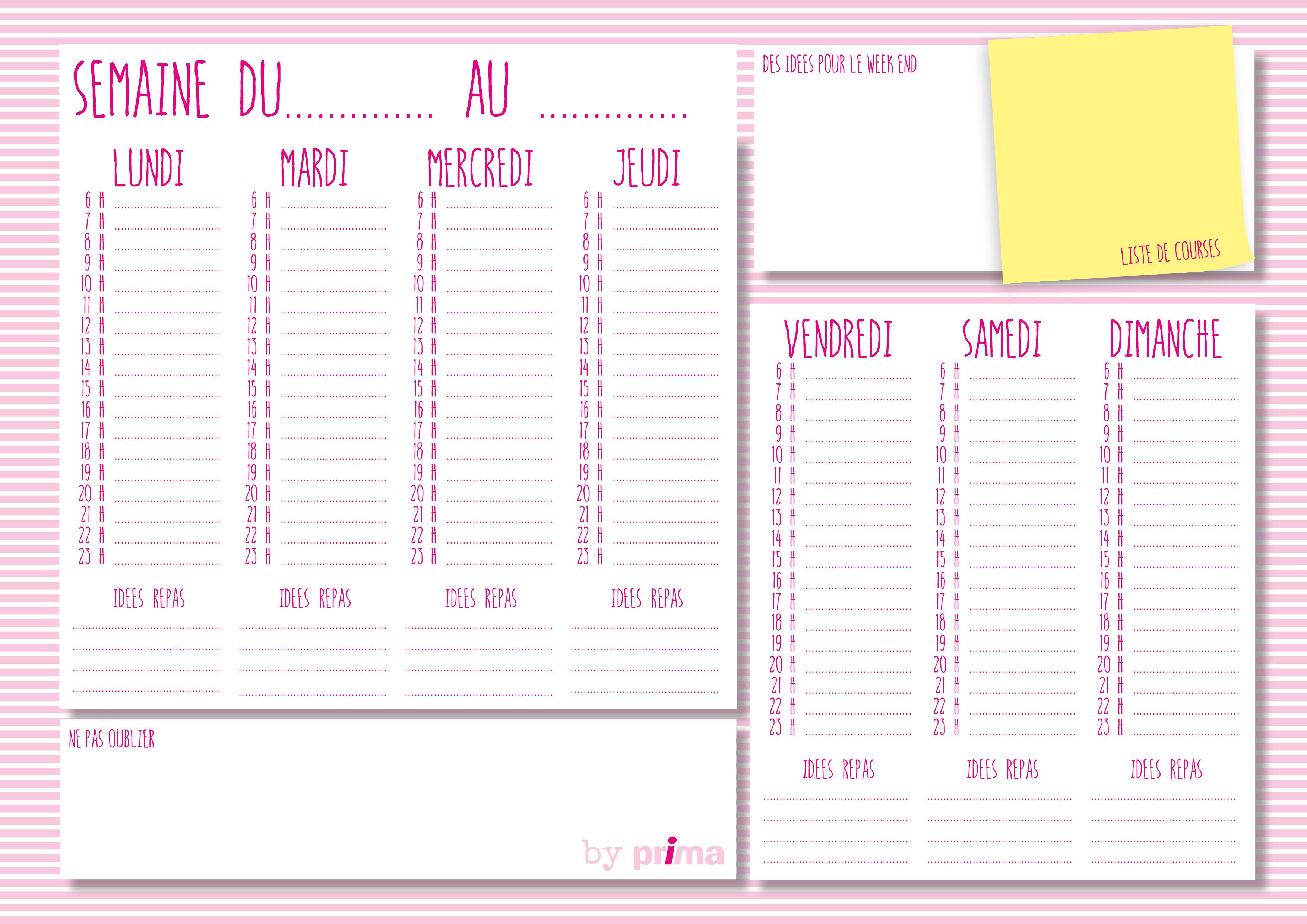 Calendrier Personnalise A Imprimer.Gratuit Agenda Personnalise A Imprimer Femme Actuelle Le Mag