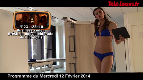 La Speakerine parle du Brésil et se met en bikini (programmes du 12 février)