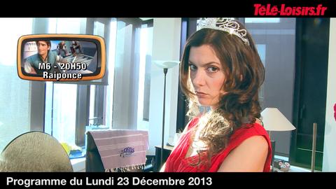 La Speakerine veut faire sa princesse ! (programmes du 23 décembre)