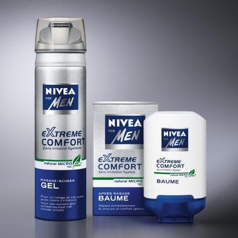Rasage douceur avec Extreme Comfort de Nivea
