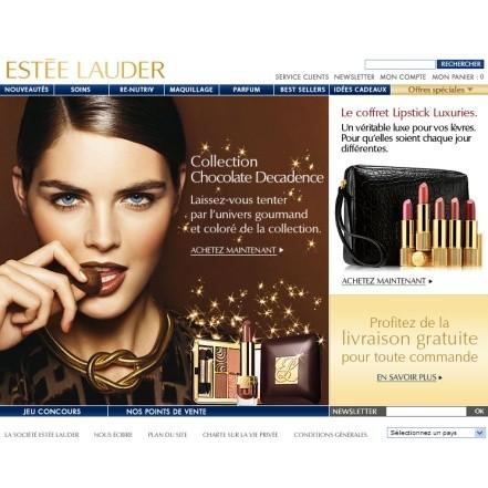 Une e-boutique pour Estée Lauder