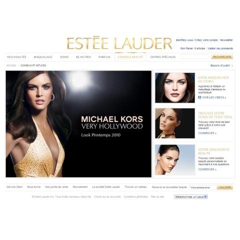 Le site Internet d'Estée Lauder fait peau neuve
