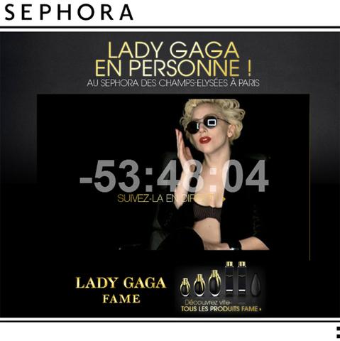 Lady Gaga chez Sephora ce week-end