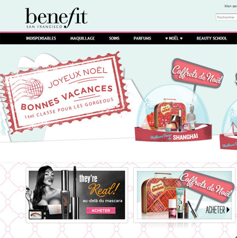 Benefit Cosmetics, enfin le site internet !