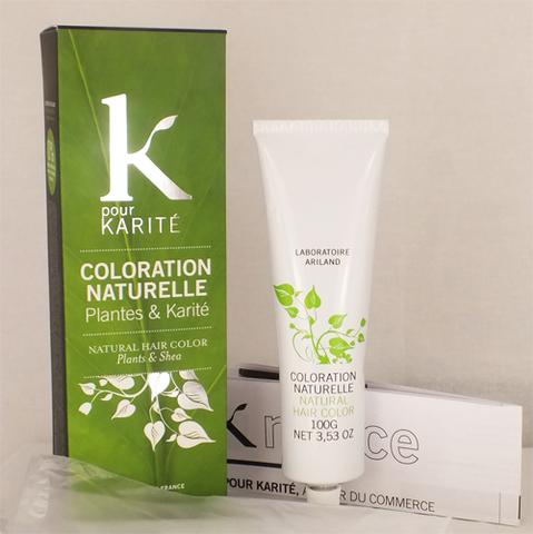 Je veux une coloration naturelle, K pour Karité