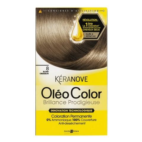 Oléo Color de Kéranove, les cheveux secs ont leur coloration
