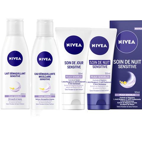 Nivea chouchoute les peaux sensibles