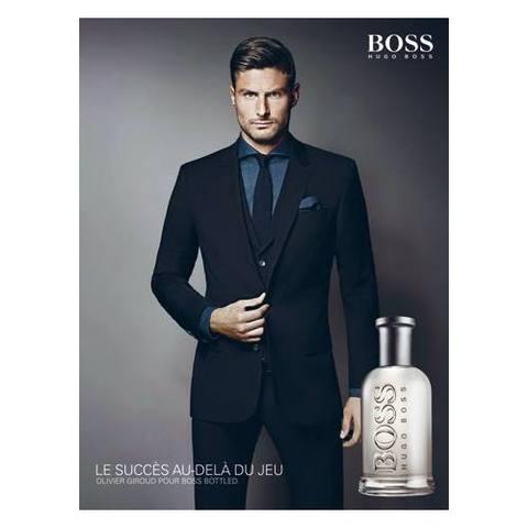 Olivier Giroud, l'ambassadeur de Boss Bottled.