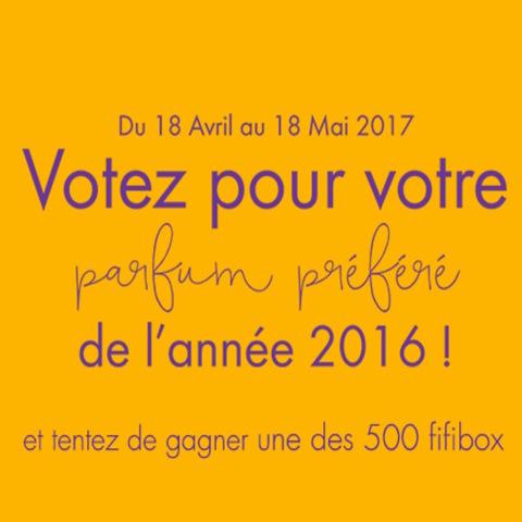 Votez pour vos parfums préférés 2016 avec Les FIFI Awards
