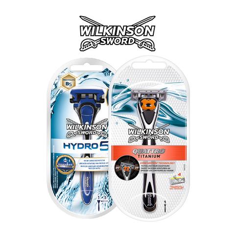 Rasoirs Hydro 5 et Quattro Titanium : les alliés d'un rasage en douceur