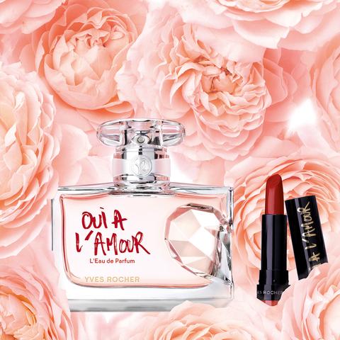 Oui à l'Amour, le nouveau parfum féminin d'Yves Rocher