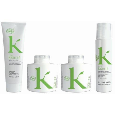 K pour Karité, du bio pour les cheveux