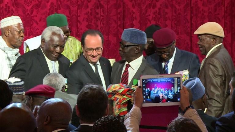 28 anciens tirailleurs sénégalais naturalisés à l'Elysée