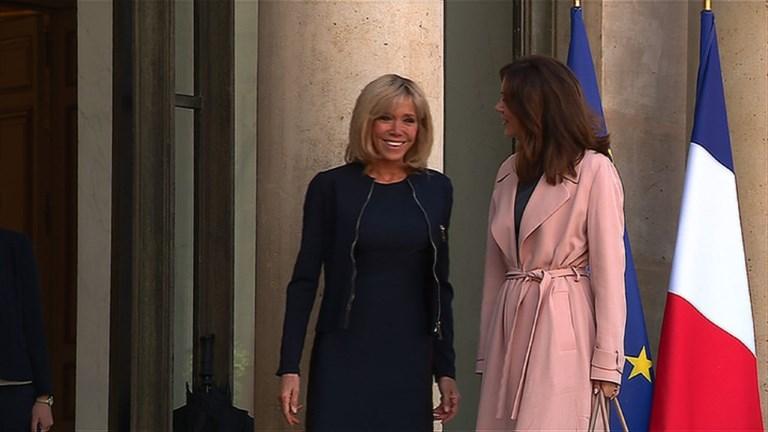 Premier événement officiel pour Brigitte Macron à l'Elysée