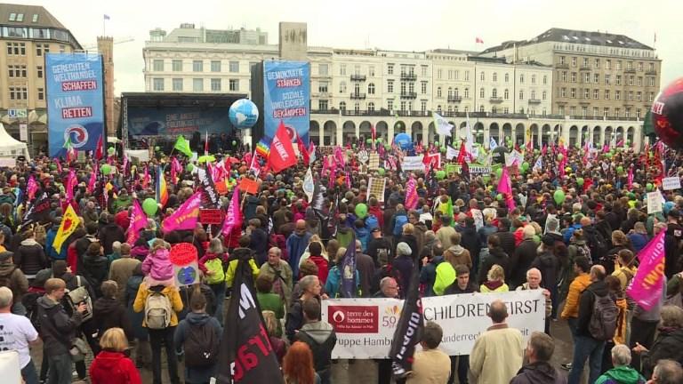 Allemagne: au moins 10.000 manifestants anti-G20 à Hambourg