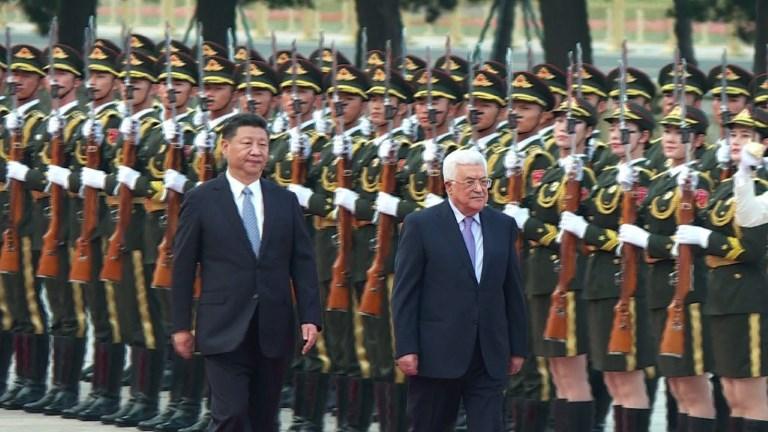 Le président chinois reçoit son homologue palestinien à Pékin