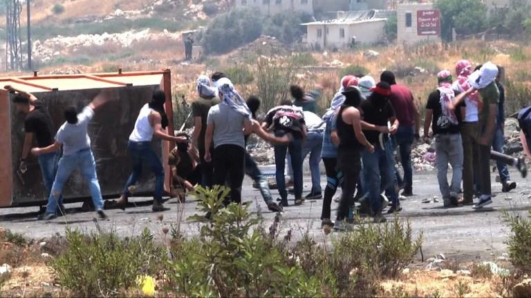 Heurts entre Palestiniens et soldats israéliens près de Beit El