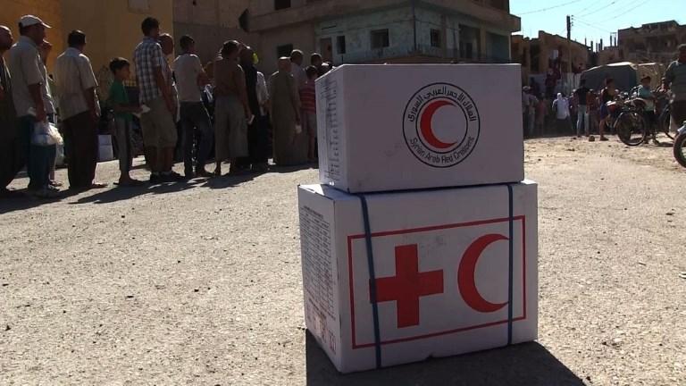 Deir Ezzor: le croissant rouge achemine de l'aide humanitaire