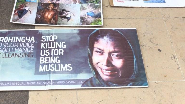 Rassemblement à Paris en solidarité avec les Rohingyas