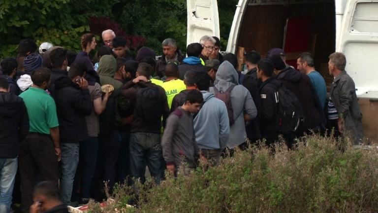 Les migrants de retour à Grande-Synthe