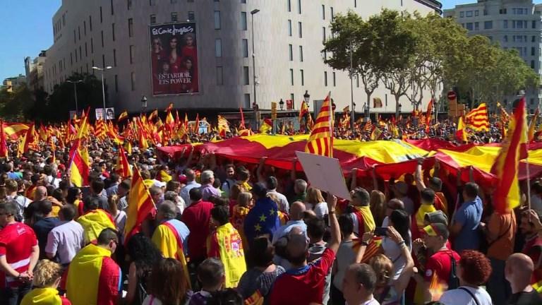Barcelone: manifestation de masse contre l'indépendance