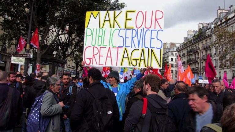 Journée d'action des fonctionnaires à Paris et à Rennes