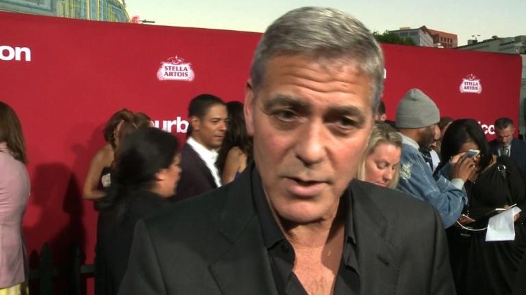 Los Angeles: Clooney et Damon réagissent au scandale Weinstein