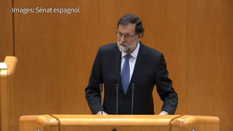 Rajoy demande au Sénat la destitution du président catalan