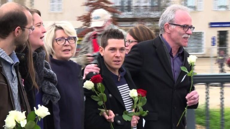 Marche blanche à Gray après le meurtre d'Alexia Daval