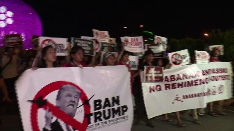 Philippines: manifestations anti-Trump à Manille