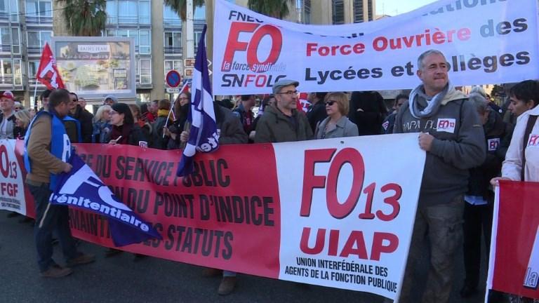 Réformes de E. Macron: de nouvelles manifestations à Marseille