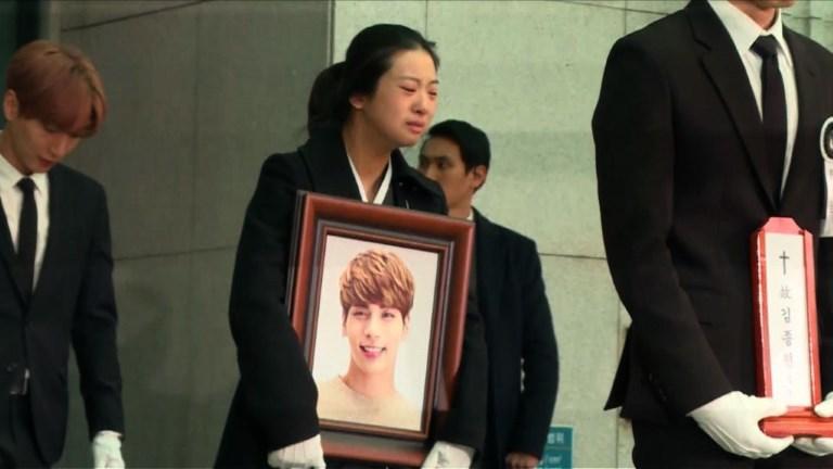 Corée du Sud: funérailles de la star de la K-pop Kim Jong-Hyun