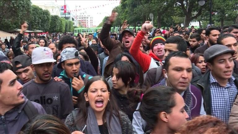 Manifestation à Tunis contre les mesures d'austérité