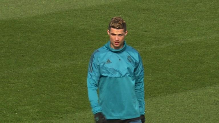 Football: entraînement du Real Madrid avant le choc face au PSG