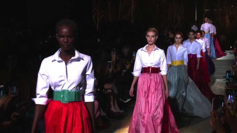 Carolina Herrera présente sa dernière collection à New York