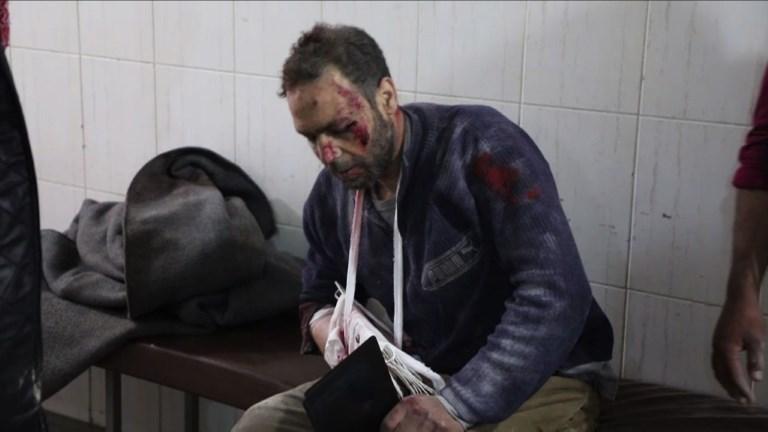 Dans la Ghouta bombardée, des blessés traités tant bien que mal