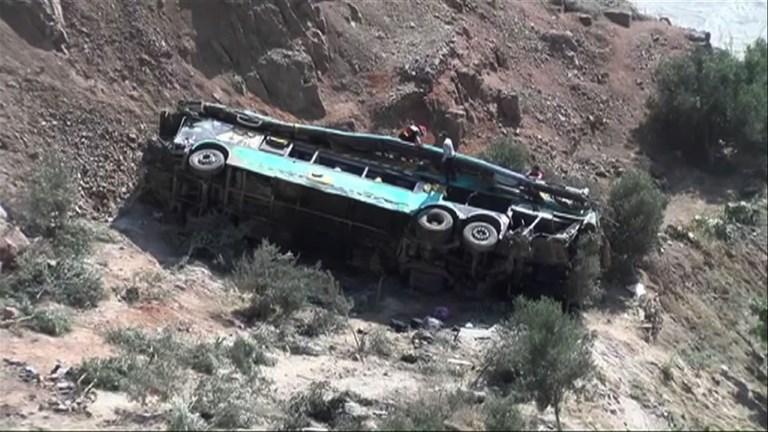 Accident d'autocar au Pérou: au moins une quarantaine de morts