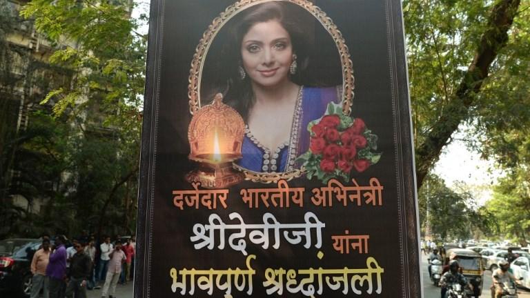 L'Inde pleure la star de Bollywood Sridevi