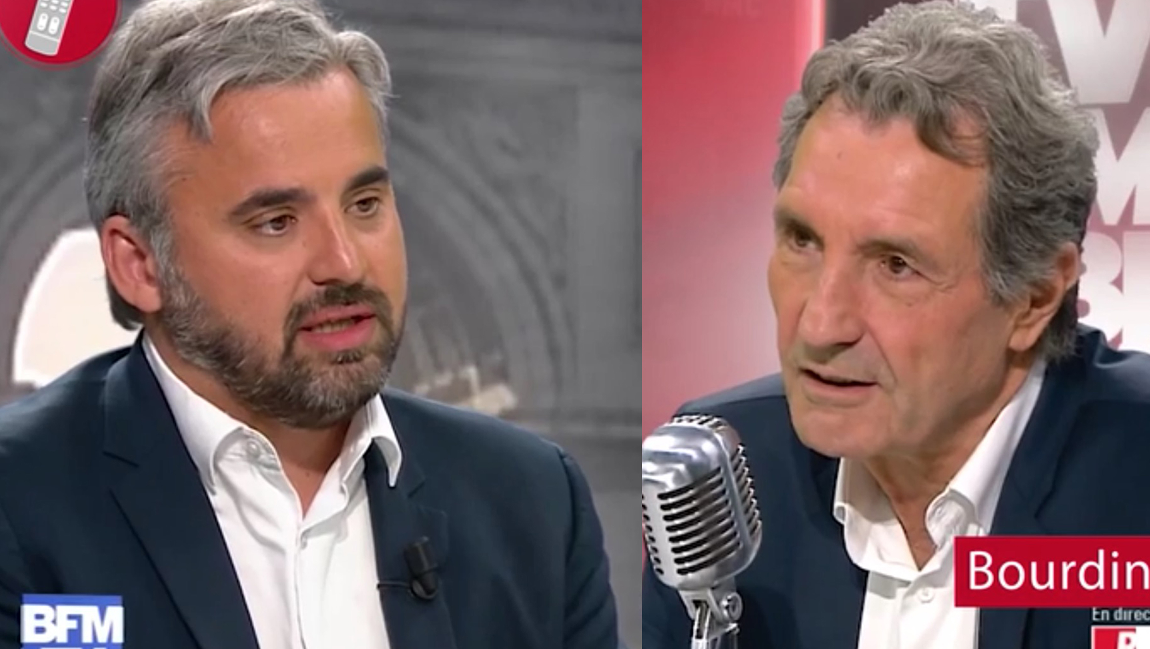 Alexis Corbière et Jean-Jacques Bourdin